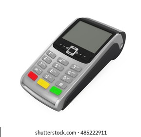Point of Sale Terminal. 3D rendering