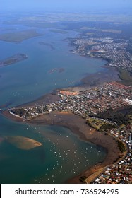 Point Victoria and eastern coast aerial view, Brisbane, Queensland Australia
