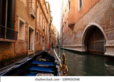 Point of view in an gondola boat in the canals of Venice. Also location of the Italian job movie.