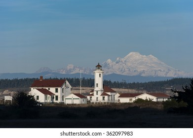 Point Wilson Lighthouse. The Point Wilson Light is an active aid to navigation located in Fort Worden State Park near Port Townsend, Jefferson County, Washington, at the entrance to Admiralty Inlet.
