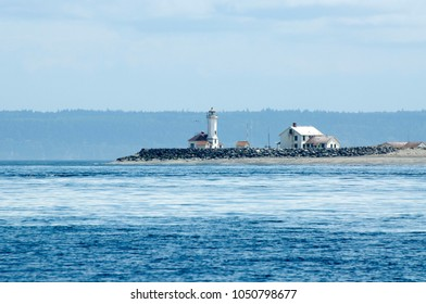 Point Wilson Lighthouse located in Port Townsend, WA, USA.