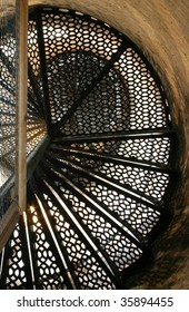 Pointe Aux Barques Lighthouse stairway.