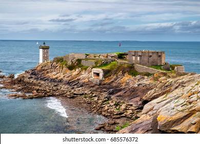 Pointe de Kermorvan, Kermovan Lighthouse, Brittany (Bretagne), France