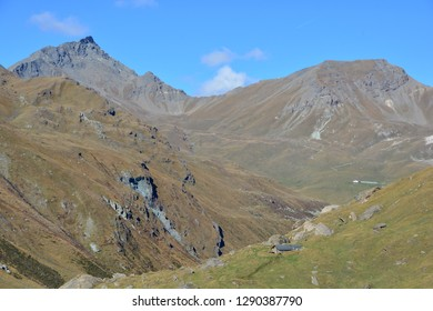 The Pointe du Prelet with in the Val d'Anniviers in the Southern Swiss Alps above Grimentz