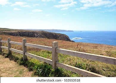 The Pointe du Van, between barrier and horizon (Finistere, Brittany, France)