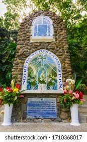 Pointe Noire, Basse-Terre, Guadeloupe - November 1, 2018 : Notre Dame des Larmes Sanctuary
