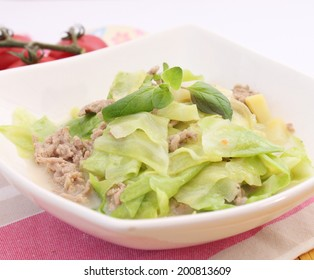 pointed cabbage stew