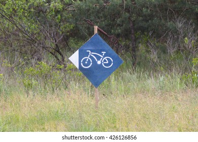 A pointer in the direction bicycle rental points