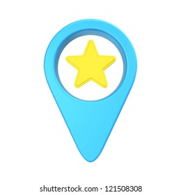 pointer location with an asterisk, symbolizing the chosen point