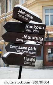 A pointer in Tallinn, Estonia