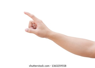 pointing finger isolated on white background with clipping path