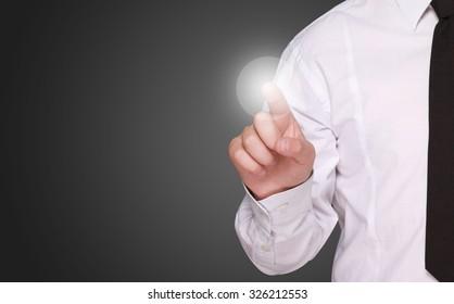 points finger