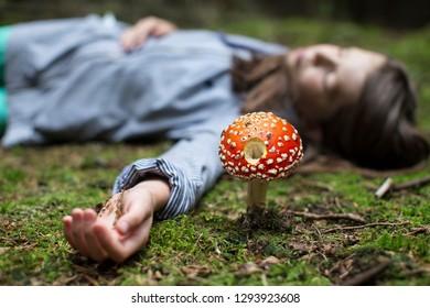 Poison mushroom and death