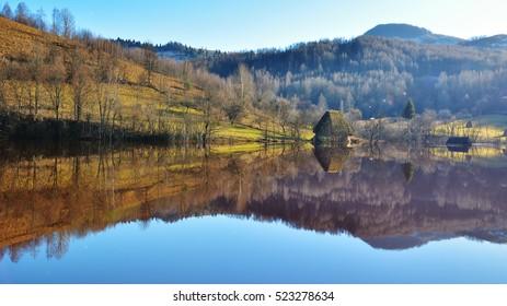 Poisoned lake Transylvania