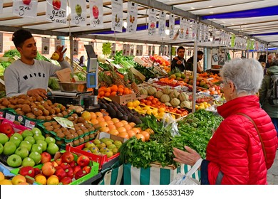 Poissy; France - april 7 2019 : the market