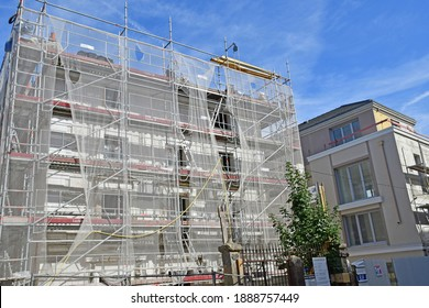 Poissy, France - july 19 2020 : restoration of an old house in the city centre