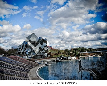 Poitiers, France Futuroscope - 01/04/2018 : Park of futuroscope attrraction fun park for film and movies film games