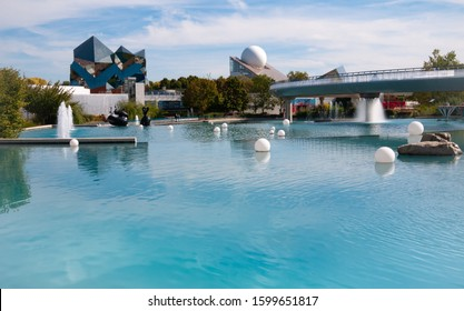Poitiers, France - September 18 2010: Park of futuroscope attrraction fun park for film and movies film games