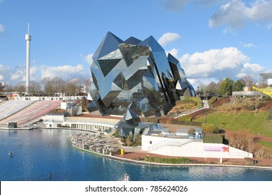 Poitiers futuroscope / France / 01 01 2018 : view of tourism attraction park in futuroscope