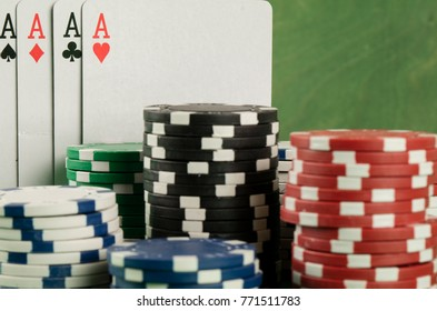poker banner template layout  for online casino . green table