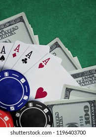 poker or blakjack table in online casino
