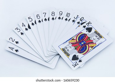 poker cards on white background