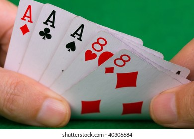 Poker cards showing a full house