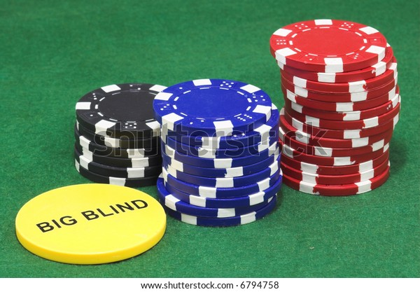 Poker Chips Big Blind Stock Photo Edit Now 6794758