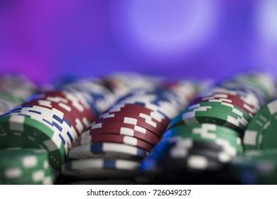 Poker chips. Casino concept.