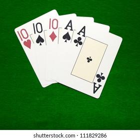 Poker. Combination Full House