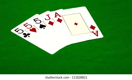 Poker. Combination Three of a Kind