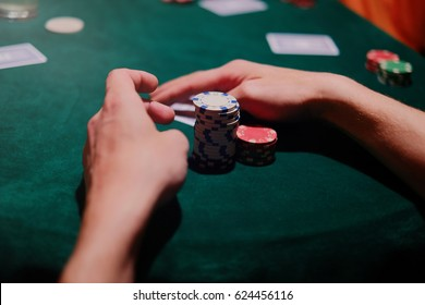 the poker game is the player holds chips, cards on the table