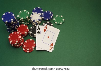 poker hand - aces