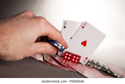poker hand betting with winning hand a pair of aces