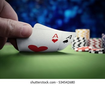 poker player at casino table