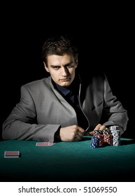 Poker player with suit