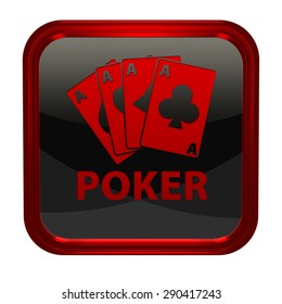 Poker square icon on white background