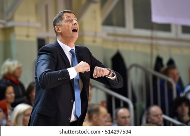 POKOWICE, POLAND - NOVEMBER 9; 2016: Women basketball Euroleague match CCC Polkowice - Nadezhda Orenburg. Stefan Svitek