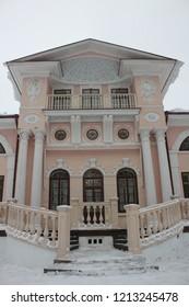 POKROVSKOYE, VOLOGDA OBLAST / RUSSIA - MARCH 08 2016: Bryanchaninov's family country estate. The Bryanchaninov's Manor in the Vologda oblast, Russia