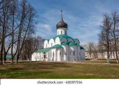 Pokrovsky Cathedral church in Alexandrov kremlin, Vladimir region, Russia