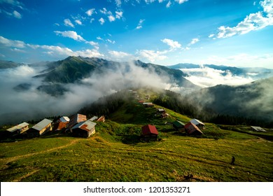 Pokut Plateau Rize Camlihemsin,Pokut plateau in the Black Sea and Turkey. Rize, Turkey.