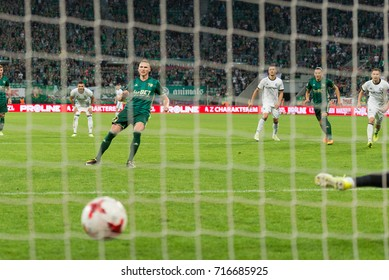 POLAND 10.09.2017, Wroclaw, WKS Slask Wroclaw - Legia Warszawa, Ekstraklasa, polish league game: Robak penalyty kick