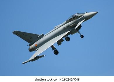 Poznań, Poland - 19.05.2018. Poznań - Eurofighter Typhoon, Ejército del Aire, Aerofestival, Poznań Air Show