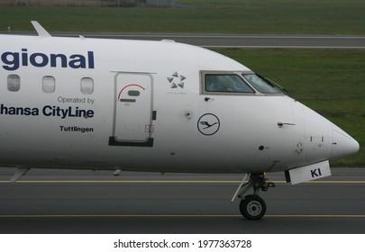 Poznań, Poland - 23.10.2020 Poznań - Ławica Airport, Lufthansa CityLine, Bombardier CRJ-900, D-ACKI