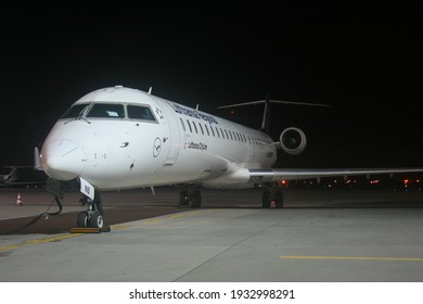 Poznań, Poland - 25.08.2019 Poznań - Ławica Airport, Bombardier CRJ-900LR, Lufthansa CityLine, D-ACNB