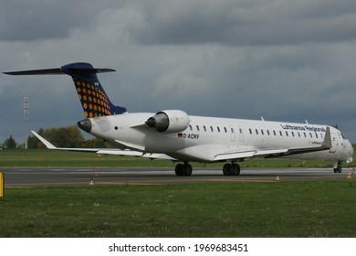 Poznań, Poland - 29.09.2019 Poznań - Ławica Airport, Lufthansa CityLine Bombardier CRJ-900, D-ACNV