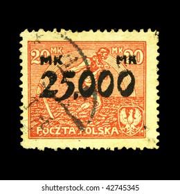 POLAND - CIRCA 1936: A stamp printed in Poland shows sower, circa 1936