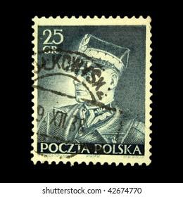 POLAND - CIRCA 1938: A stamp printed in Poland shows Edward Rydz-Smigly, circa 1938