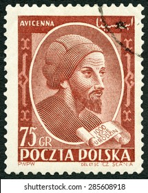 POLAND - CIRCA 1952: A stamp printed in Poland shows Avicenna (1452-1519), 1000th birth anniversary of Avicenna, Ibn-Sina, circa 1952