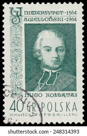 POLAND - CIRCA 1964: A stamp is printed in Poland shows Hugo Kollataj, circa 1964.